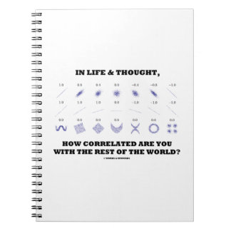 In Life Thought How Correlated Are You With Rest Notebook