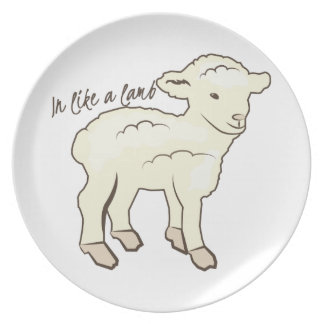 In Like a Lamb Plates