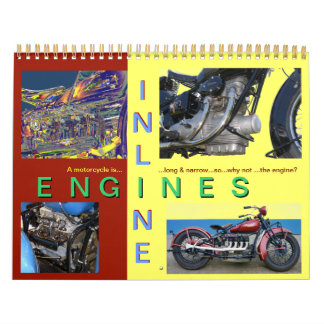In Line Motorcycle Engines Calendar