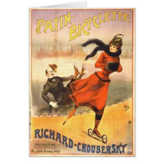 In-Line Skates 1890 Greeting Card