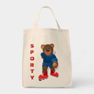 In-line skating Dinky Bear Tote Bag