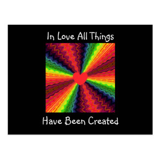 In Love All Things Have Been Created Postcard