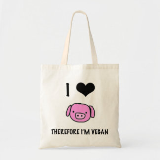 In love animals, therefore in ' m vegan tote bag