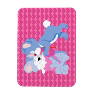 In love bears with pink hearts background magnet