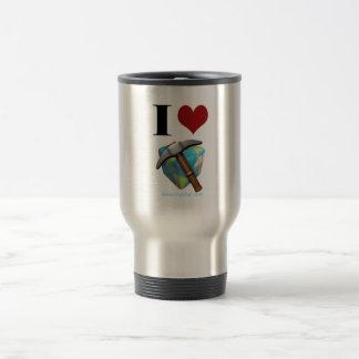 In love blocks Earth Travel Mug
