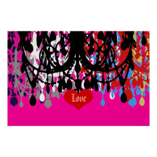 In Love Chandelier ~ 60x40 CHANGE COLOR Poster