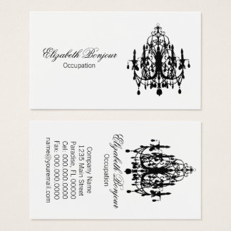 In Love Chandelier - (Change Color) Business Card