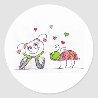 In Love Classic Round Sticker