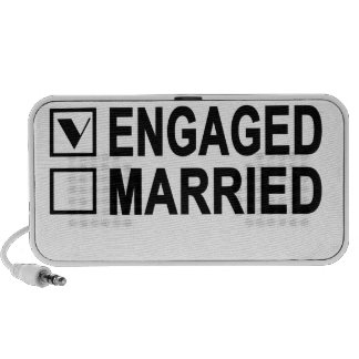 in love, engaged, married Women's T-Shirts.png Mini Speaker