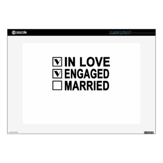 """in love, engaged, married Women's T-Shirts.png Skin For 15"""" Laptop"""
