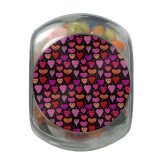 In Love Glass Candy Jar