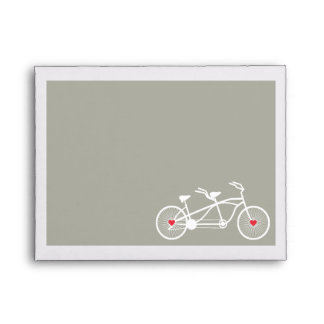 In love- Gray Bicycle Design Wedding A2 envelopes