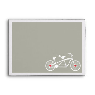 In love- Gray Bicycle Design Wedding A7 envelopes