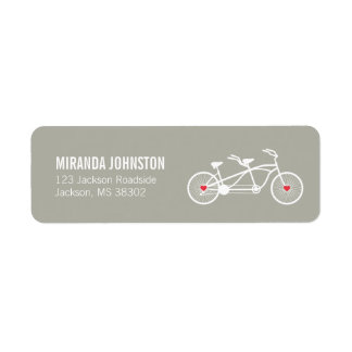 In love- Gray Bicycle  Wedding Address Labels