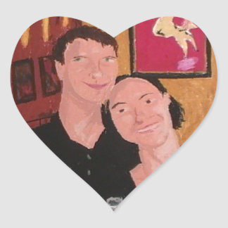 In Love Heart Sticker