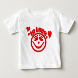In Love Hearts and Smiley Face Baby T-Shirt
