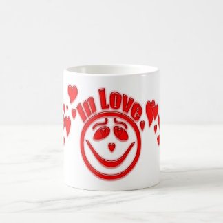 In Love Hearts and Smiley Face Coffee Mug