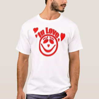 In Love Hearts and Smiley Face T-Shirt