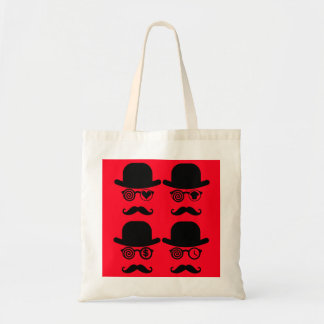 In Love Mustache Shopping Bag Londoner Red