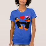 In Love Penguins Ladies Shirts