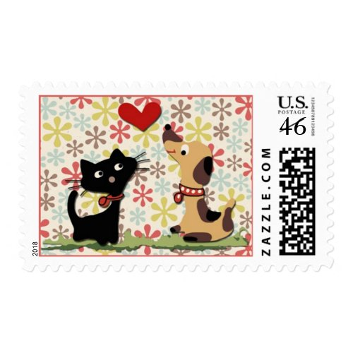 In love! Postage stamp