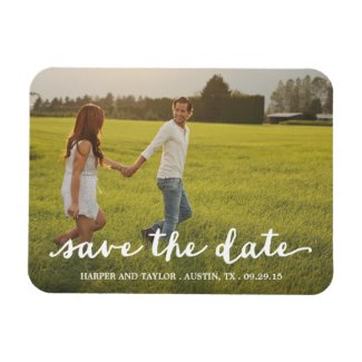 In Love Script Overlay | Save the Date Magnet