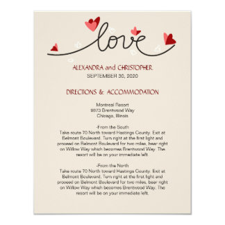 In Love Simple Elegant Text Directions 4.25x5.5 Paper Invitation Card