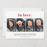 In Love Valentine's Day Birth Announcement