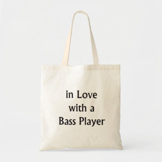 In Love With A Bass Player Black Text Bags