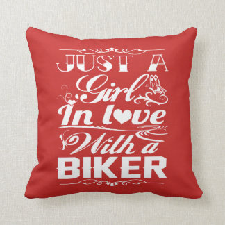 In love with a Biker Throw Pillow
