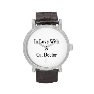 In Love With A Cat Doctor Wristwatch