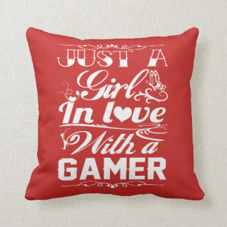 In love with a Gamer Throw Pillow