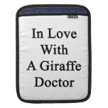 In Love With A Giraffe Doctor iPad Sleeves
