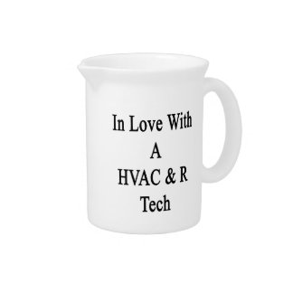 In Love With A HVAC R Tech Beverage Pitcher