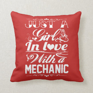 In love with a Mechanic Throw Pillow