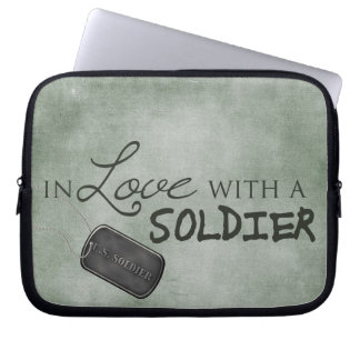 In love with a soldier computer sleeve