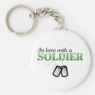 In love with a soldier keychain