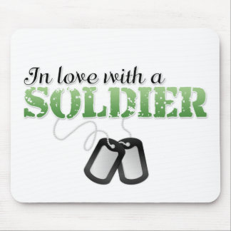 In love with a soldier mouse pad