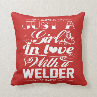 In love with a Welder Throw Pillow