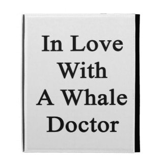 In Love With A Whale Doctor iPad Folio Cover