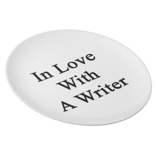 In Love With A Writer Plate