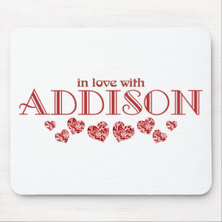 In love with Addison Mouse Pad