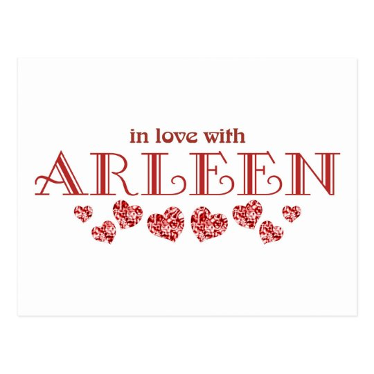 In love with Arleen Postcard
