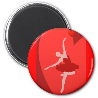 In Love With Ballet 2 Inch Round Magnet