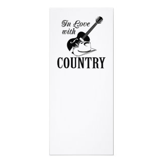 In love with country card