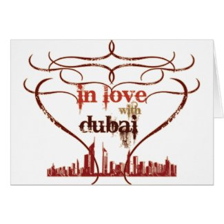 In Love with Dubai - Greeting Card