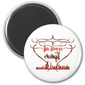 In Love with Dubai Fridge Magnet
