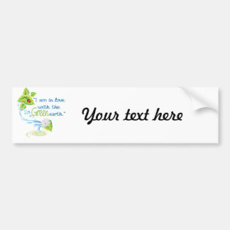 In love with green earth bumper sticker