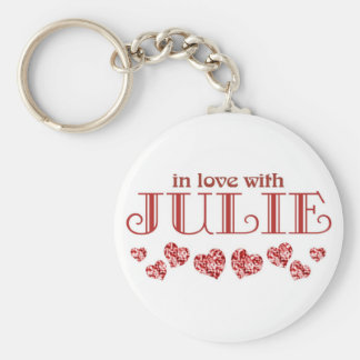 In love with Julie Keychain