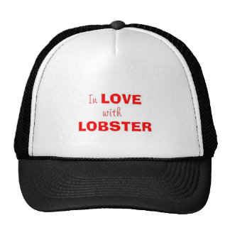 In love with lobster trucker hat